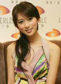 Lin Chiling at the La Perle Fashion Show.