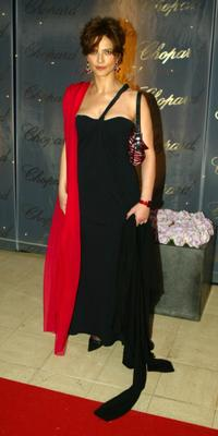 Laura Morante at the Chopard Trophy party.
