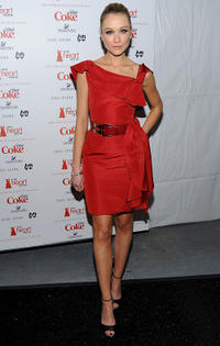 Katrina Bowden at the Heart Truth's Red Dress Collection 2011 during the Mercedes-Benz fashion week.
