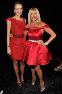 Katrina Bowden and Suzanne Somers at the Heart Truth's Red Dress Collection 2011 during the Mercedes-Benz fashion week.