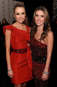 Katrina Bowden and Audrina Patridge at the Heart Truth's Red Dress Collection 2011 during the Mercedes-Benz fashion week.