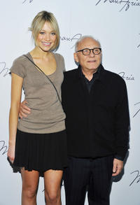 Katrina Bowden and designer Max Azria at the Max Azria Fall 2011 fashion show during the Mercedes-Benz Fashion Week.