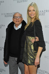 Designer Max Azria and Katrina Bowden at the BCBGMAXAZRIA Fall 2011 fashion show during the Mercedes-Benz Fashion Week.