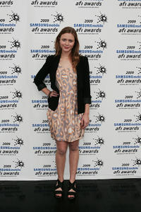 Maeve Dermody at the 2009 Samsung Mobile AFI Awards in Australia.
