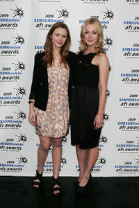 Maeve Dermody and Jessica Marais at the 2009 Samsung Mobile AFI Awards in Australia.