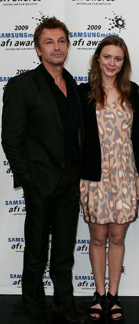 Peter O'Brien and Maeve Dermody at the 2009 Samsung Mobile AFI Awards in Australia.