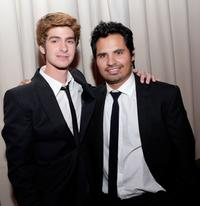Andrew Garfield and Michael Pena at the opening night gala premiere of