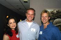 Kimberly Williams, director Jason Moore and David Monahan at the screening of