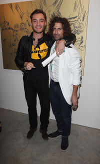 Ed Westwick and artist Todd DiCiurcio at the Todd DiCiurcio