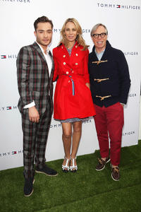 Ed Westwick, Dee Ocleppo and Tommy Hilfiger at the Tommy Hilfiger Pop-Up House Launch in London.