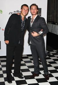Ed Westwick and Guest at the 2011 Grand Prix party in Melbourne.