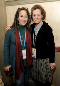 Gina Belafonte and Cara Mertes at the Board Brunch/Director's Circle during the 2011 Sundance Film Festival.