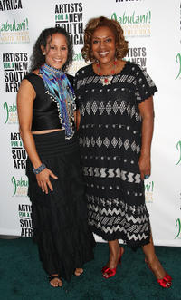 Gina Belafonte and CCH Pounder at the Artists for a New South Africa 20th Anniversary Celebration.