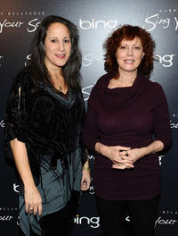 Gina Belafonte and Susan Sarandon at the