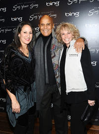 Gina Belafonte, Harry Belafonte and Pamela Belafonte at the