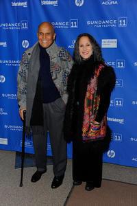 Harry Belafonte and Gina Belafonte at the premiere of