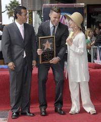 Rita Moreno, Ricky Martin and Antonio Villaraigosa at the Hollywood Walk Of Fame.