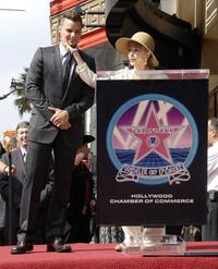 Rita Moreno and Ricky Martin at the Hollywood Walk Of Fame.