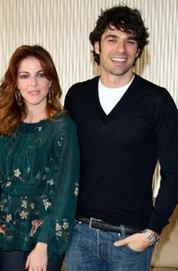 Claudia Gerini and Luca Argentero at the photocall of
