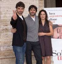 Luca Argentero, Luca Lucini and Diane Fleri at the photocall of