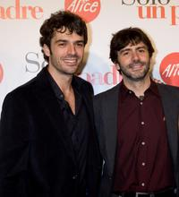 Luca Argentero and Director Luca Lucini at the premiere of
