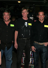 Dick Wieand, Tom Morga and Warrington Gillette at the Anchor Bay Entertainment's Jason Voorhees Reunion in California.