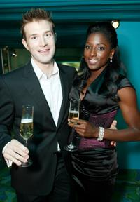 Jacob Fischell and Rutina Wesley at the HBO Emmy Party.