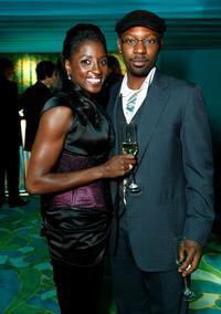 Rutina Wesley and Nelsan Ellis at the HBO Emmy Party.