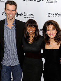 Cameron Mathison, Debbi Morgan and Susan Lucci at the 9th Annual New York Times Arts & Leisure Weekend.