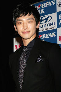 Rain at a press conference  in Sydney, Australia.