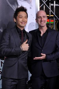 Rain and James McTeigue at the California premiere of