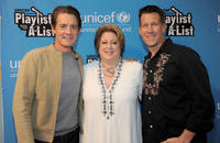 Kyle MacLachlan, Caryl Stern and James Denton at the UNICEF Playlist with the A-List Celebrity Karaoke Benefit.