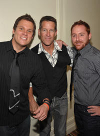 Bob Guiney, James Denton and Scott Grimes at the 11th Annual Lupus LA Orange Ball in California.