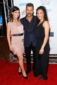Samantha Ivers, Wass Stevens and Elia Monte-Brown at the New York premiere of