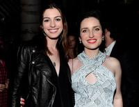 Anne Hathaway and Zoe Lister-Jones at the after party of the California premiere of