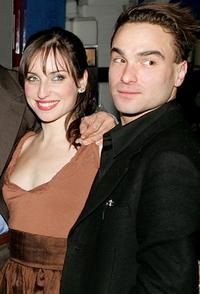 Zoe Lister-Jones and Johnny Galecki at the after party of the opening night of
