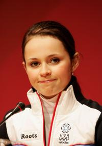 Sasha Cohen at the press conference of Turin 2006 Winter Olympic Games.