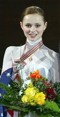 Sasha Cohen at the 2004 World Figure Skating championships.