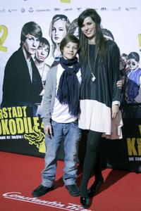 Nick Romeo Reimann and Nora Tschirner at the premiere of