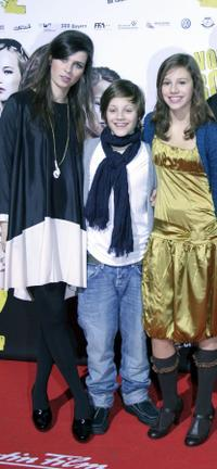 Nora Tschirner, Nick Romeo Reimann and Leonie Tepe at the premiere of
