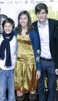 Nick Romeo Reimann, Leonie Tepe and Fabian Halbig at the premiere of