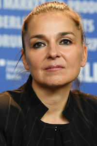 Monika Mecs at the award winners press conference during the 67th Berlinale International Film Festival.