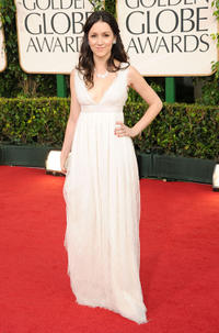 Shannon Woodward at the 68th Annual Golden Globe Awards in California.