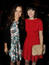 Allison Miller and Shannon Woodward at the FOX All-Star party in California.