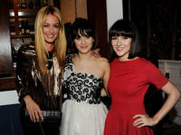 Cat Deeley, Zooey Deschanel and Shannon Woodward at the FOX All-Star party in California.