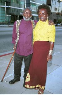 Garrett Morris and Guest at the premiere of