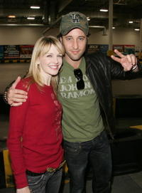 Kathryn Morris and Alex O'Loughlin at the Celebrity Racing Charity Event.