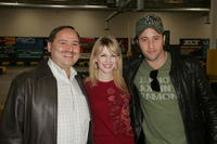 Eugene Montanez, Kathryn Morris and Alex O'Loughlin at the Celebrity Racing Charity Event.