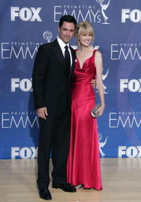 Danny Pino and Kathryn Morris at the 59th Annual Primetime Emmy Awards.