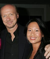 Producer Paul Haggis and Emily Liu at the Crown Royal and Tab Energy Drink's Cool Down Post Award Season Party.